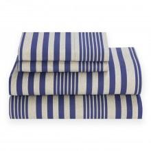 Jogo de Lençol Solteiro Tommy Hilfiger Seaport Stripe Sheet Set, Full TH0463