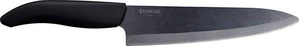 Kyocera Advanced Ceramic Revolution Series 7-inch Professional Chef's Knife, Black Blade