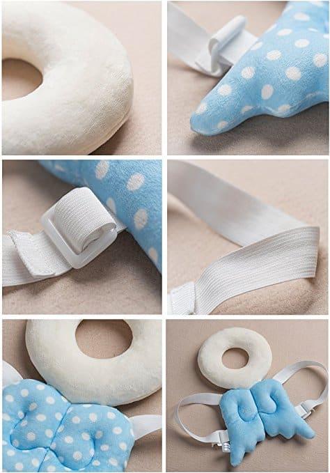 Almofada de segurança infantil ajustável para bebês Protetor de cabeça e ombro KuYou 2