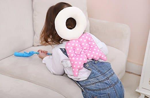Almofada de segurança infantil ajustável para bebês Protetor de cabeça e ombro KuYou 13