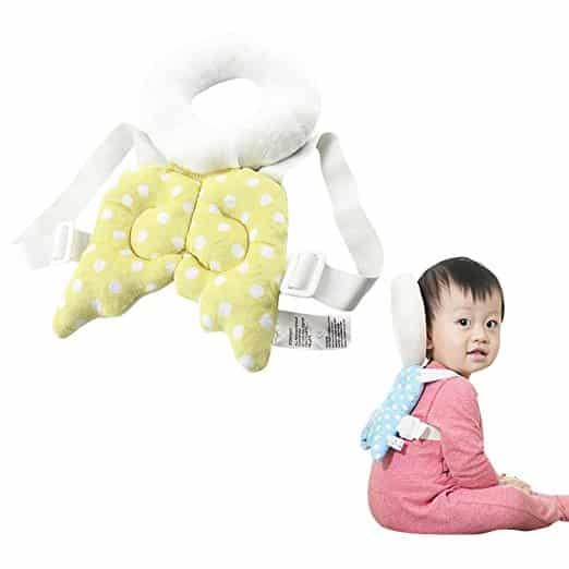 Almofada de segurança infantil ajustável para bebês Protetor de cabeça e ombro KuYou 8