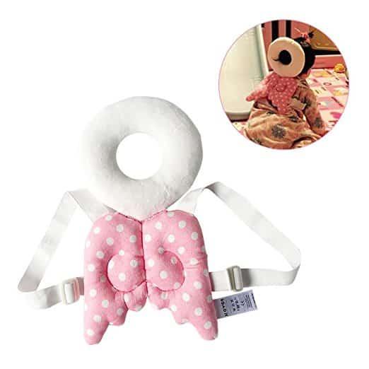 Almofada de segurança infantil ajustável para bebês Protetor de cabeça e ombro KuYou 7
