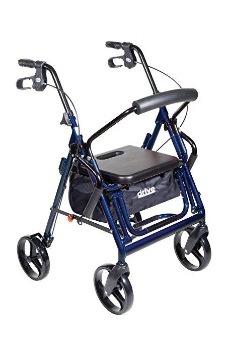 Andador e Cadeira de Rodas Para Idoso Cor Azul DUET1