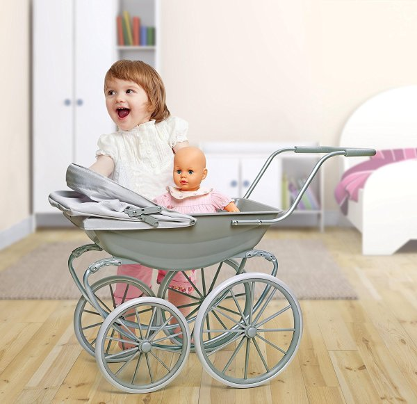 Badger Basket London Doll Pram ,fits American Girl dolls, Gray3