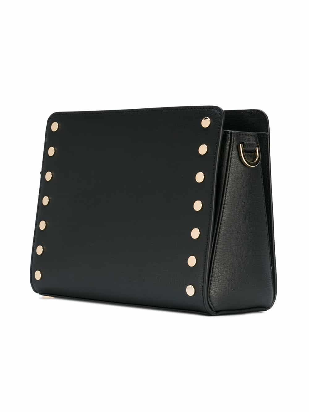 Bolsa carteiro Sylvie em couro com tachas3