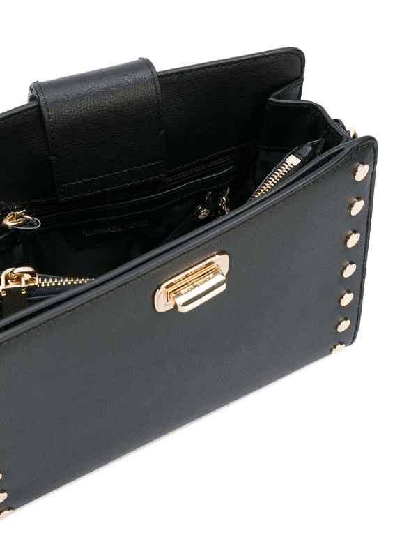Bolsa carteiro Sylvie em couro com tachas5
