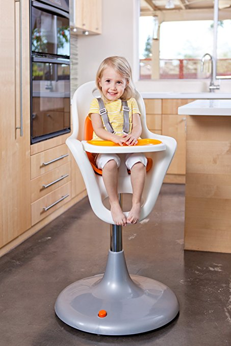 Boon Flair Highchair – Orange Pad – White Base 5