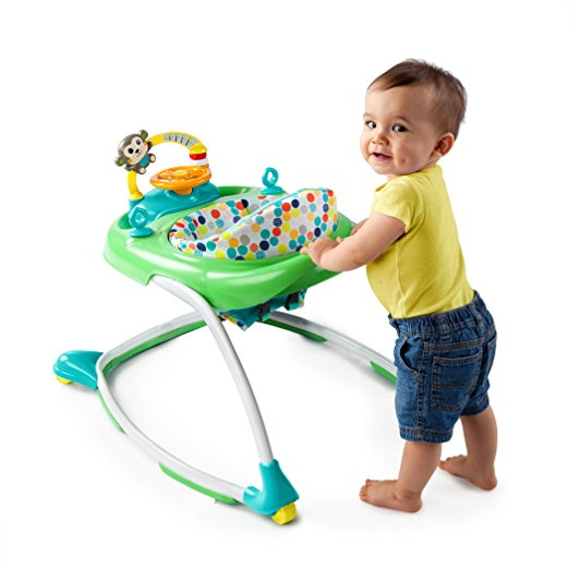 Bright Starts 2-in-1 Walkin' Wild Walker, Green 5