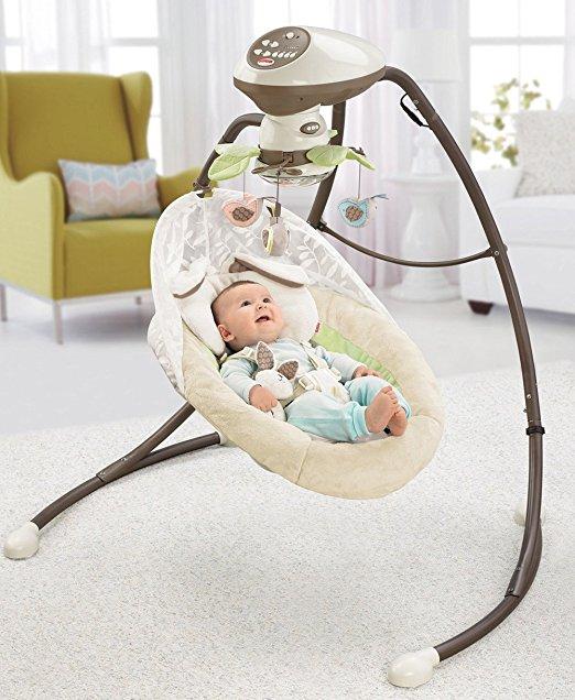 Cadeira Balanço Fisher Price Little Snugabunny Cradle Swing 2