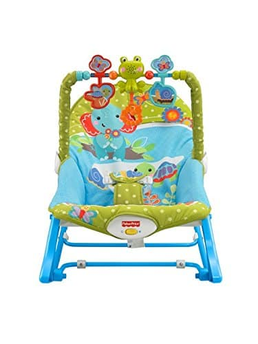 Cadeira Balanço Minha Infância Fisher Price Green with Blue BGB00 2