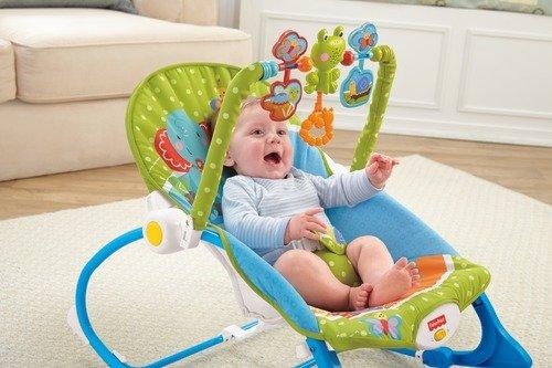 Cadeira Balanço Minha Infância Fisher Price Green with Blue BGB00 3