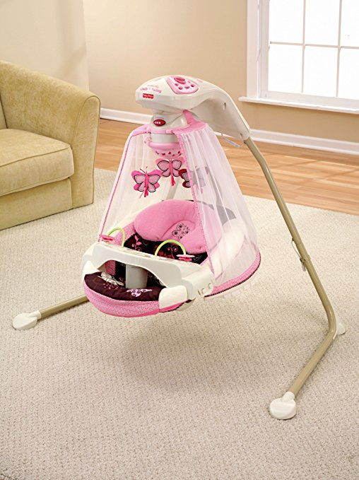 Cadeira De Balanço Fisher-price Papasan Cradle Swing Cor Mocha Butterfly3