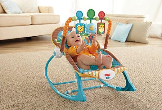 Cadeirinha de balanço Fisher-Price Infant to Toddler Rocker, Jungle Fun 2