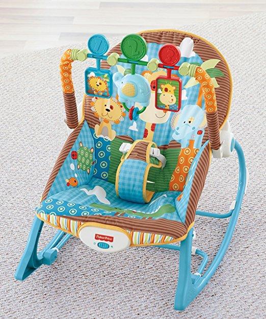 Cadeirinha de balanço Fisher-Price Infant to Toddler Rocker, Jungle Fun 7