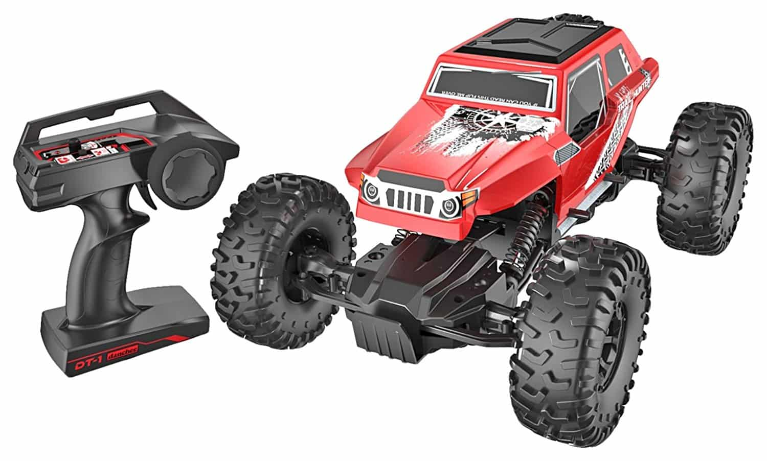 Carrinho Controle remoto danchee Trail Hunter 1/12 Scale Remote Control Rock Crawler Off Road Truck Toy