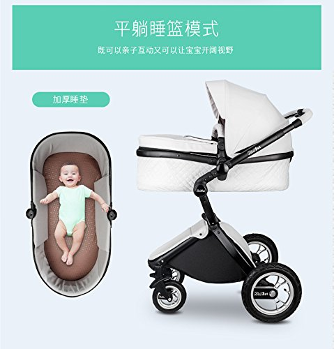 Carrinho de bebê 3 em 1 Baby Stroller 2017, 3 in 1 Function Travel System Baby Carriage and Bassinet Combo6