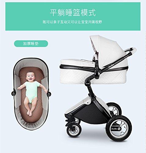 Carrinho de bebê 3 em 1 Baby Stroller 2017, 3 in 1 Function Travel System Baby Carriage and Bassinet Combo6