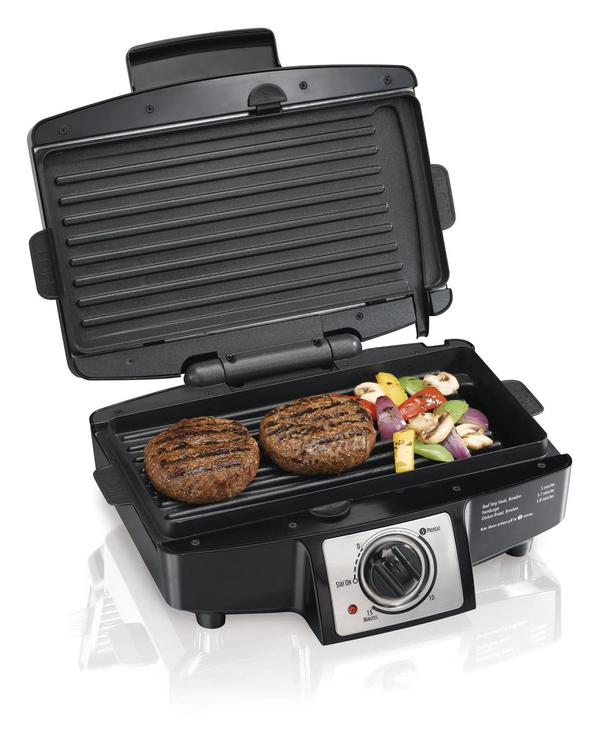 Chapa elétrica Hamilton Beach 25332 Easy-Clean Indoor Grill