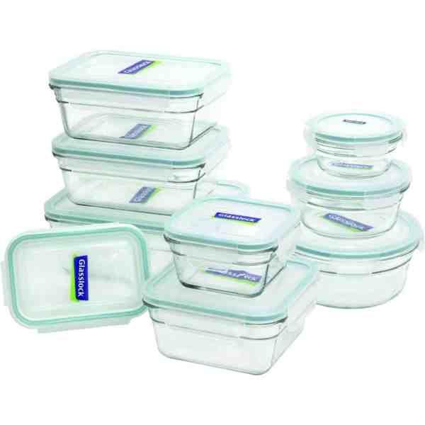 Conjunto Potes De Vidro Herméticos – Glasslock 14 Peças