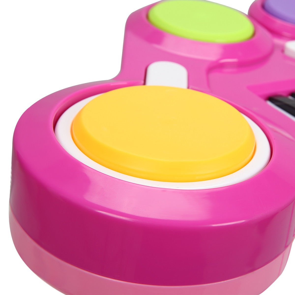 Costzon 2 In 1 Electronic Keyboard and Drum Musical 37-Key Toy Electronic Organ Piano and Drum with Microphone and Flashing Legs (Pink)8