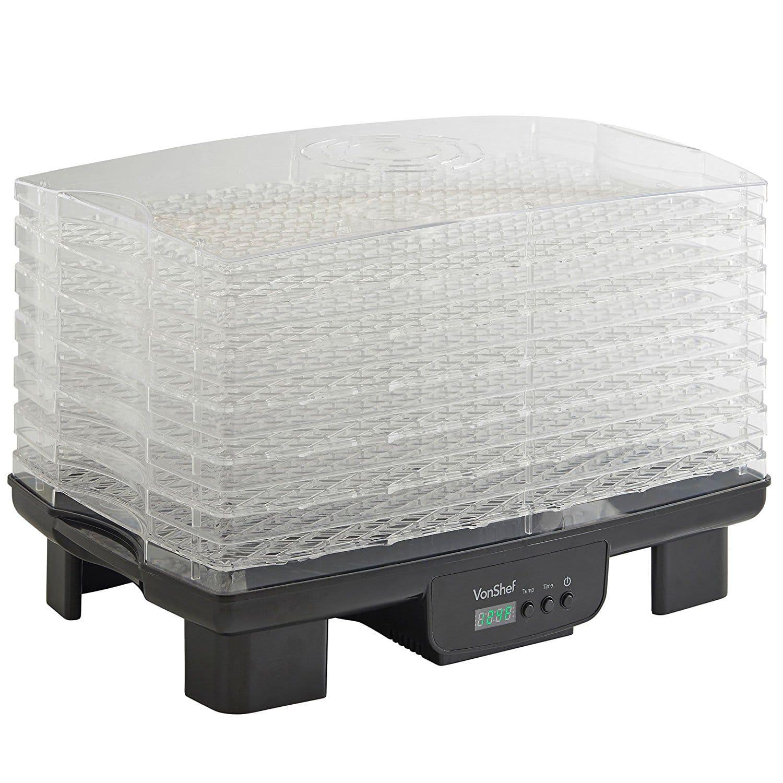 Desidratador VonShef 6 bandejas Controle de temperatura ajustável e temporizador 3