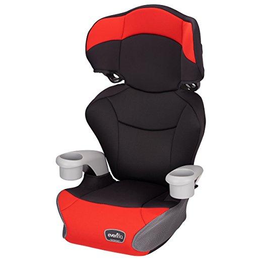 Cadeirinha de Carro Evenflo Big Kid AMP High Back Booster Car Seat, Cardinal Red