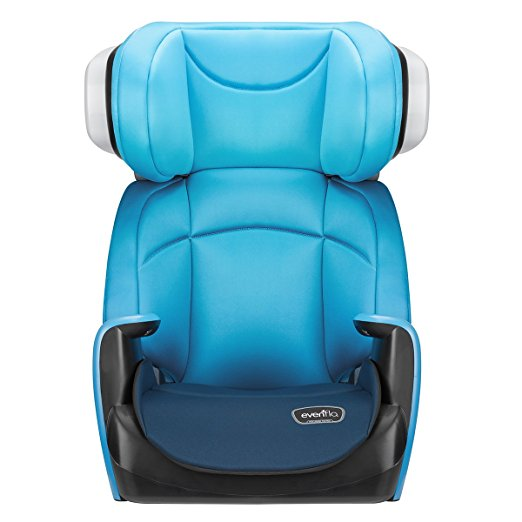 Evenflo Spectrum 2-in-1 Booster Car Seat, Bubbly Blue3