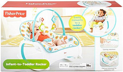 Fisher-Price Infant-to-Toddler Rocker, Geo Diamonds 4