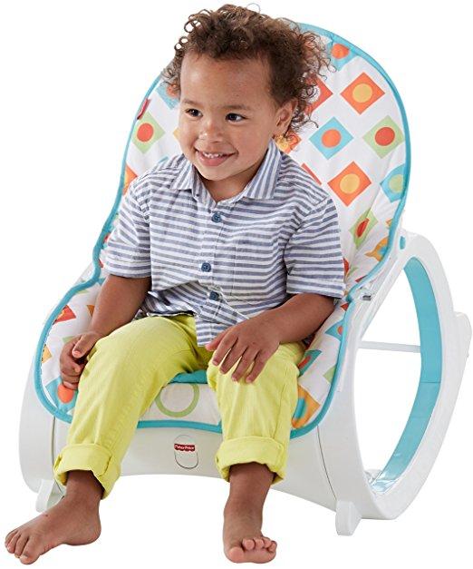 Fisher-Price Infant-to-Toddler Rocker, Geo Diamonds 5