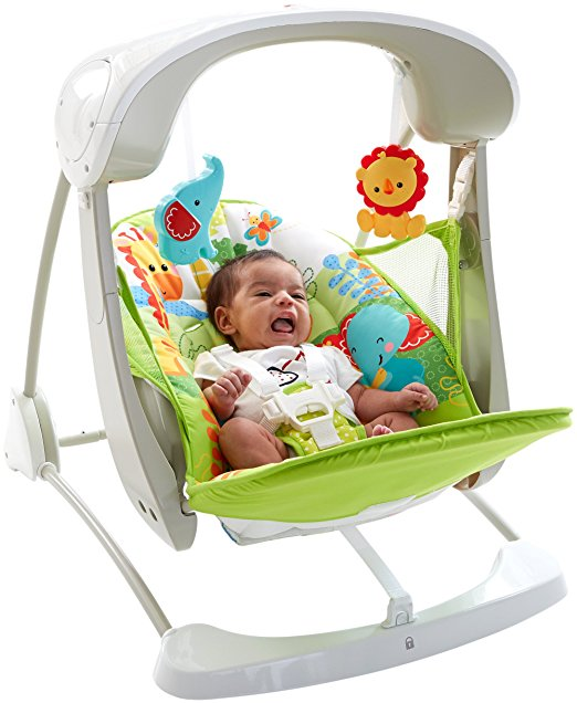 Fisher-Price Take-Along Swing and Seat, Rainforest Friends, One size 2