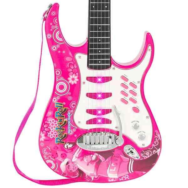 Guitarra Eletrica Infantil Rosa para Meninas Best Choice Kids Electric Guitar 3