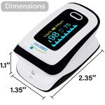 Innovo Deluxe Fingertip Pulse Oximeter with Plethysmograph and Perfusion Index 4