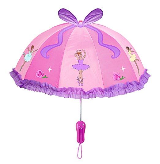 Kidorable Pink Ballerina Umbrella for Girls