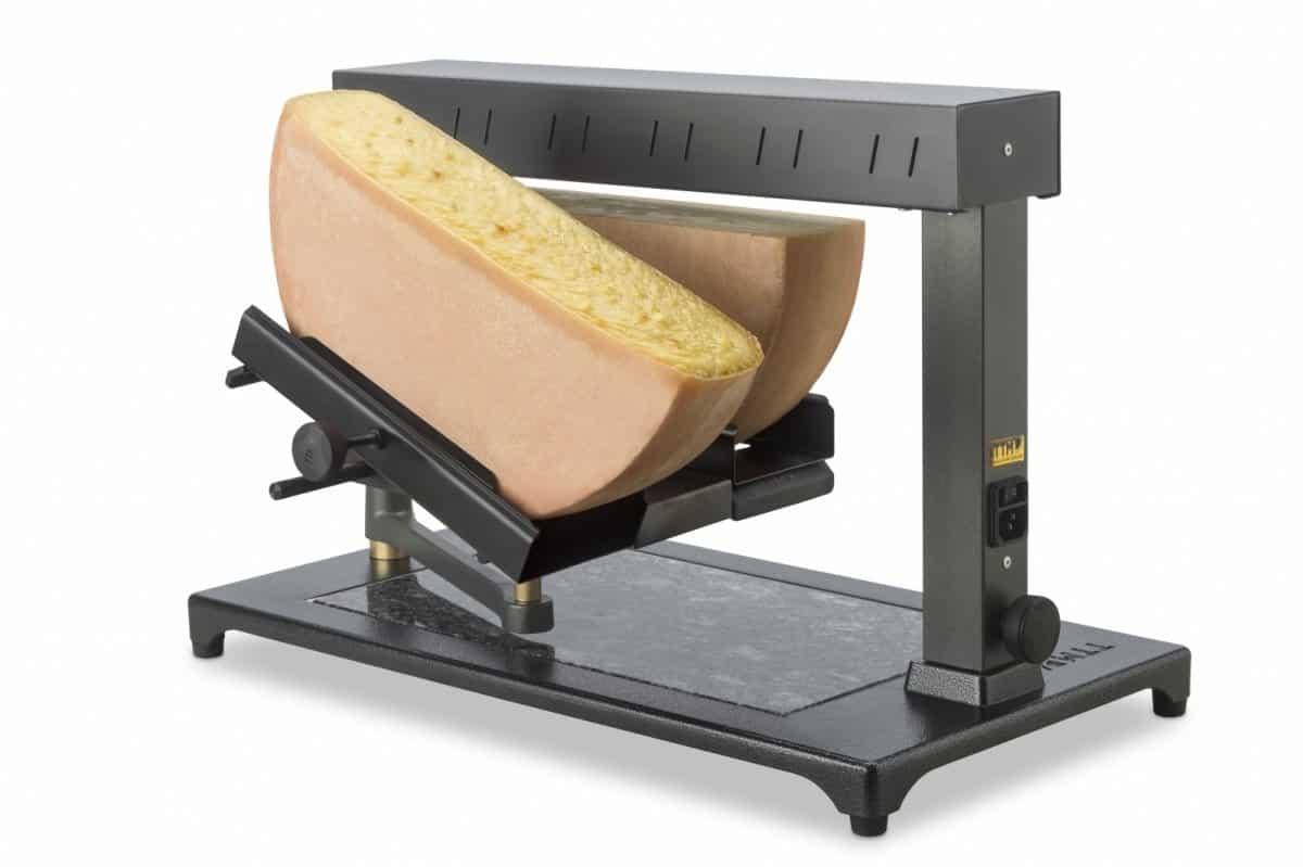 Máquina de Derreter Queijo Raclette Comercial Uma ou Duas rodas de 1_2 Queijo2