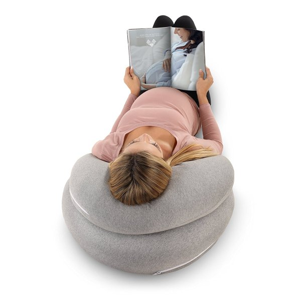 PharMeDoc Pregnancy Pillow with Jersey Cover, C Shaped Full Body Pillow4