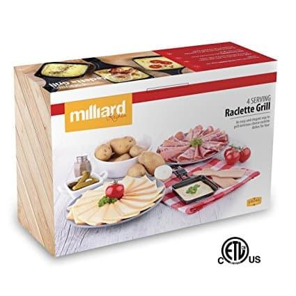 Raclette Milliard Derreter Queijo Para 4 pessoas Antiaderente55