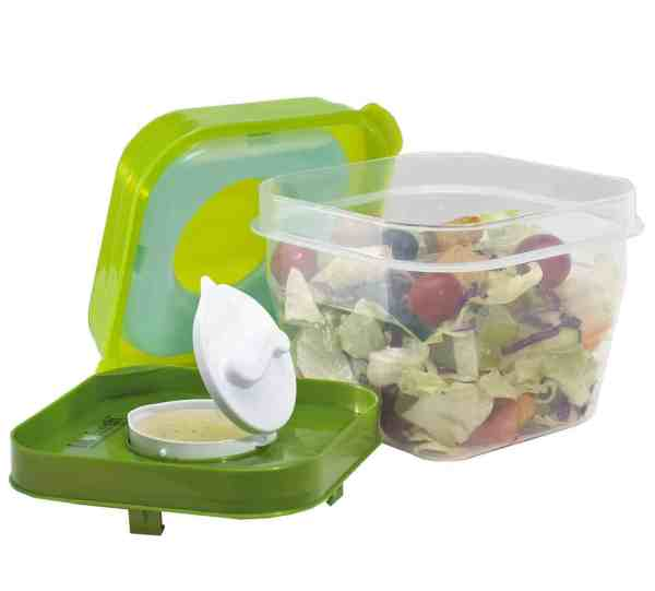 Salad Shaker – Caixa Térmica Portátil Com Dispensor De Molho