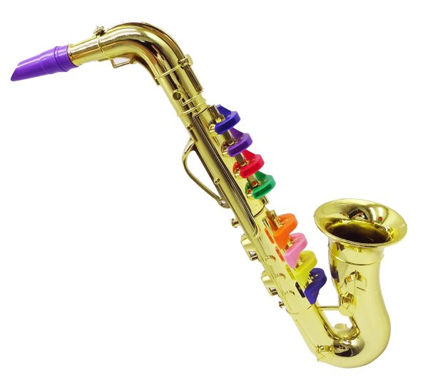 Set of 2 Music Instruments, Saxophone and Clarinet. Combo with over 10 Color Coded Teaching Songs included3