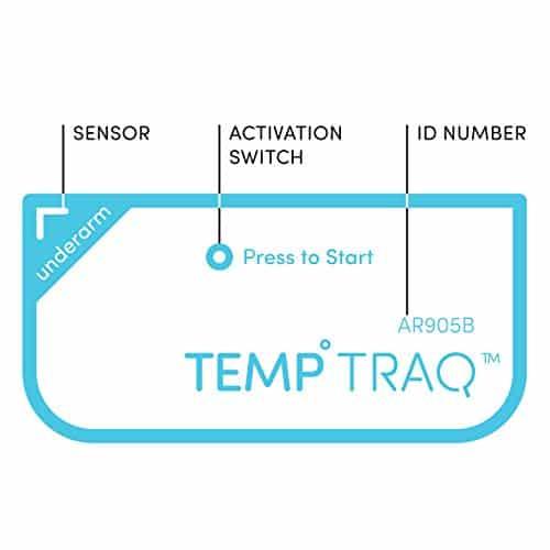 Termômetro Inteligente TempTraq Monitoramento de febre contínua 24HR com alertas