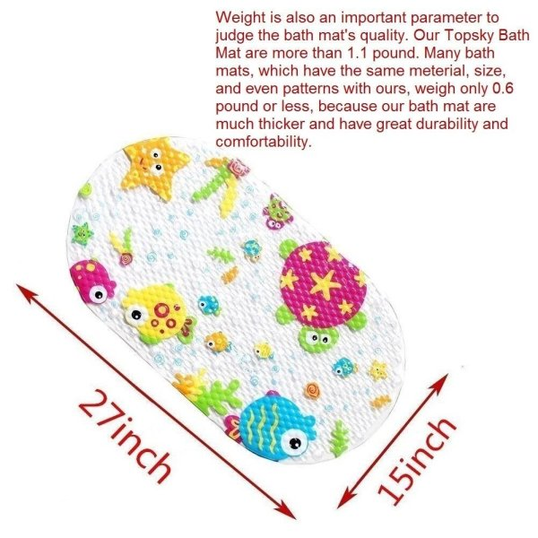 Topsky Baby Non-slip Bath Mat Anti-Bacterial Bathtub Mat3