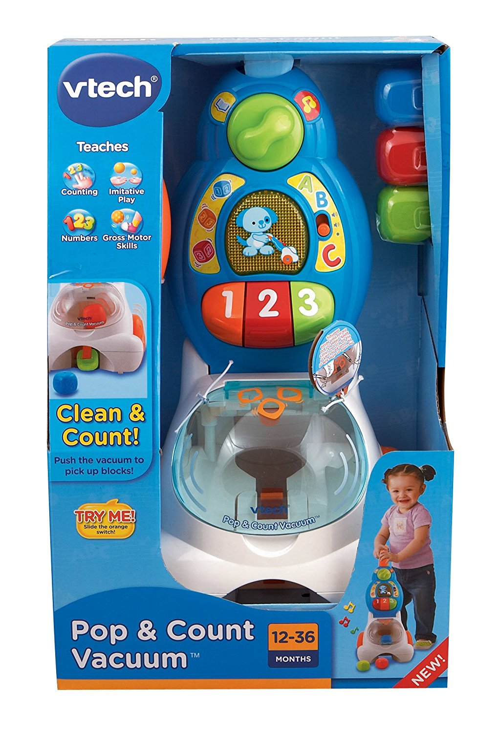 VTech Pop and Count Vacuum Push4
