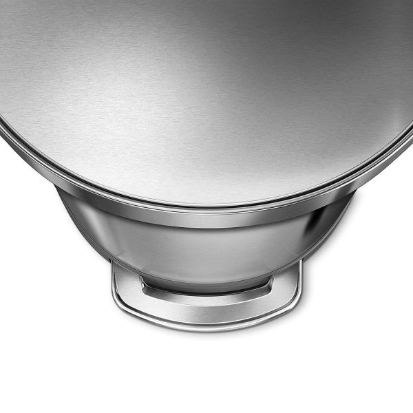 12 Gallon Stainless Steel Semi-Round Kitchen Step Trash Can with Liner Rim, Brushed Stainless Steel6