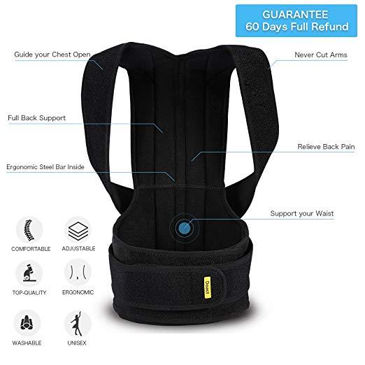 Back Brace Posture Corrector Full Back Support Belts for Upper and Lower Back4