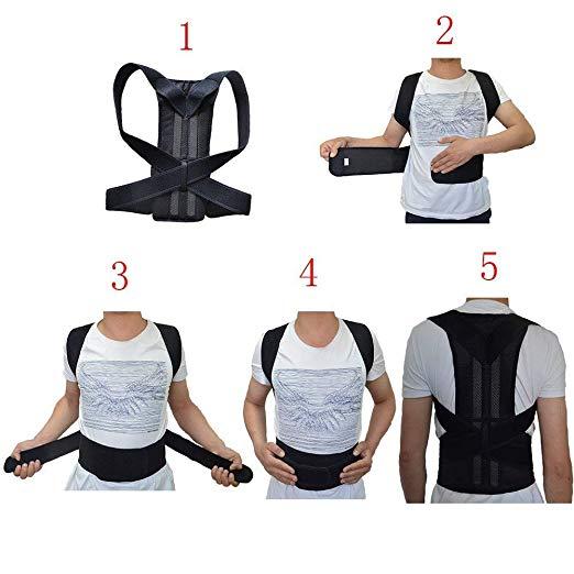 Back support Back Brace Support for Back Neck Shoulder Upper Back Pain Relief Perfect Posture Corrector Strap for Cervical Spine (L) 2