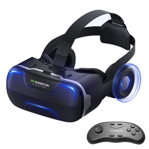 Eleovo 3D VR Headset with Remote Controller Large Viewing Experience Virtual Reality Glasses w