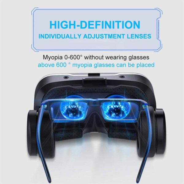 Eleovo 3D VR Headset with Remote Controller Large Viewing Experience Virtual Reality Glasses w2