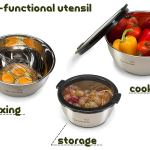FGS Kitchen Stainless Steel Mixing Bowls with Transparent Lids4