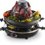 Gourmia GEG1400 Electric Raclette – Table-Top Party Grill – 6 person – Vertical Grilling Sombrero -2