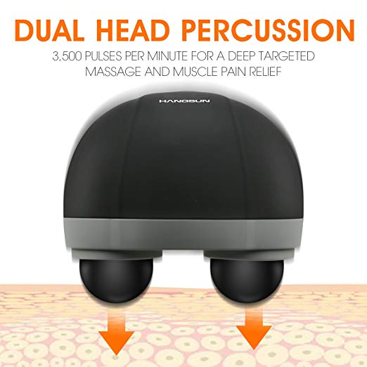Hangsun Handheld Neck Back Massager MG400 Deep Tissue Percussion Massage for Shoulder, Leg, Foot, Muscles, Electric Double Head Full body Massagers 4