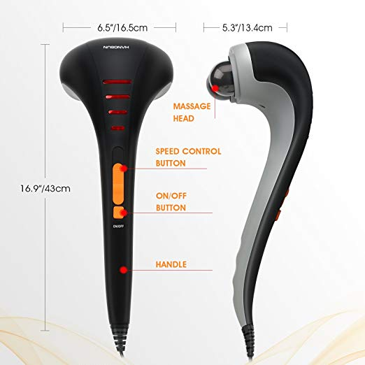 Hangsun Handheld Neck Back Massager MG400 Deep Tissue Percussion Massage for Shoulder, Leg, Foot, Muscles, Electric Double Head Full body Massagers 5